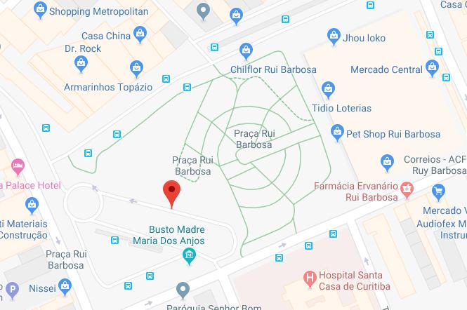 Praça Rui Barbosa Curitiba Mapa